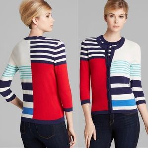 Kate Spade Colorblock Stripe Lightweight Cardigan